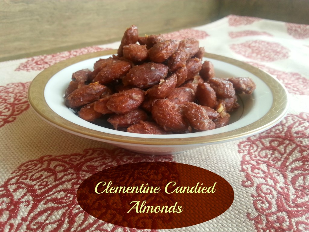 Clementine Candied Almonds